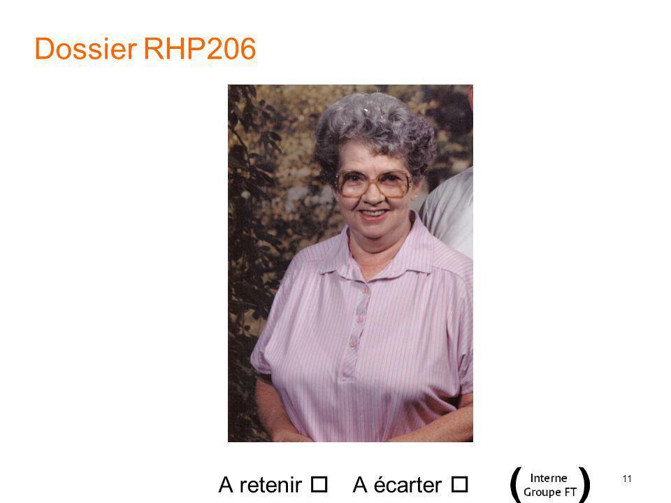 11 Dossier RHP206 A retenir A écarter