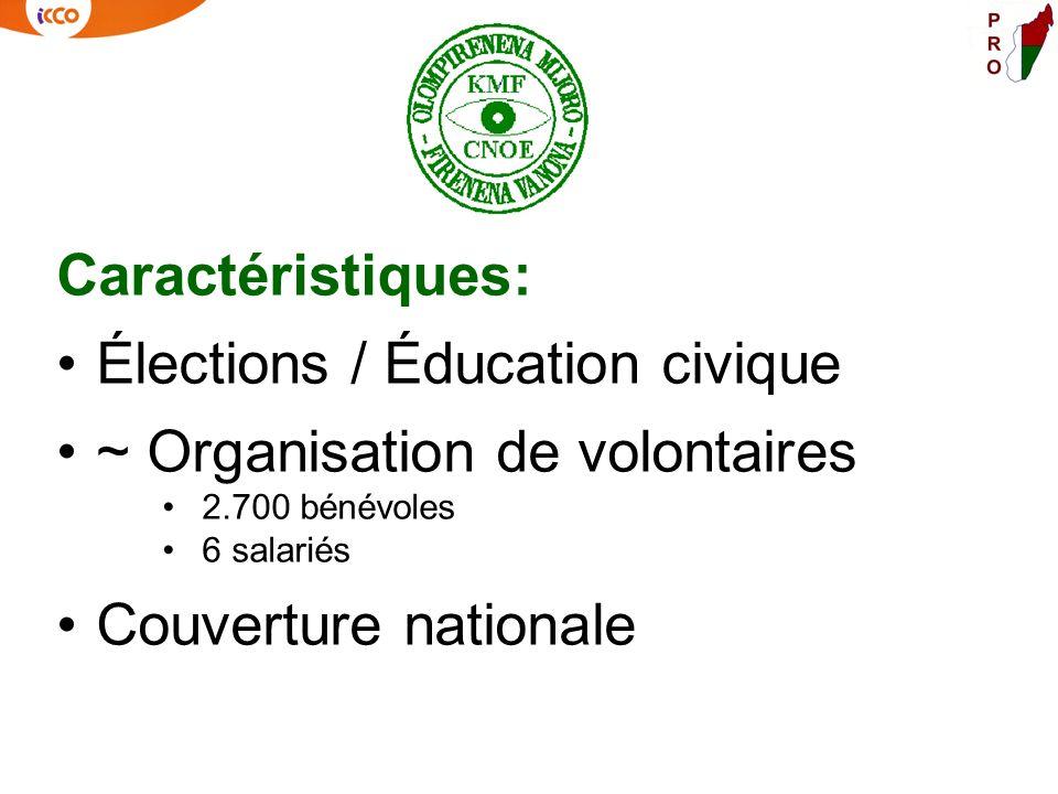 Caractéristiques: Élections / Éducation civique ~ Organisation de volontaires 2.700 bénévoles 6 salariés Couverture nationale