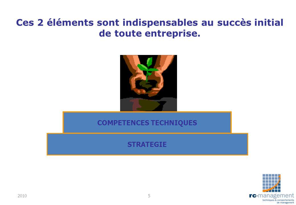 Ces 2 éléments sont indispensables au succès initial de toute entreprise. STRATEGIE COMPETENCES TECHNIQUES 20105