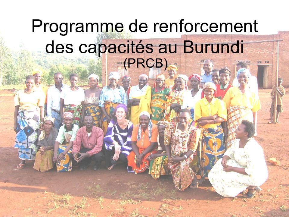 Programme de renforcement des capacités au Burundi (PRCB)