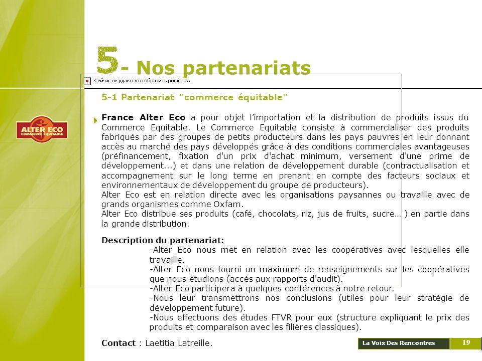 La Voix Des Rencontres - Nos partenariats 19 5-1 Partenariat