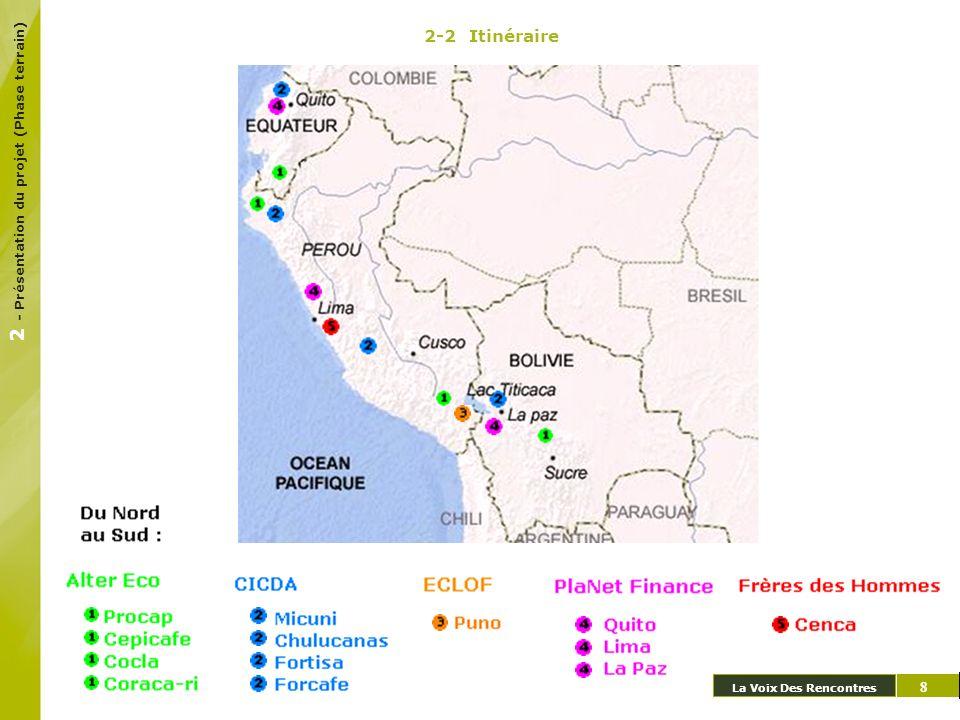 2-2 Itinéraire La Voix Des Rencontres 7 8 2 - Présentation du projet (Phase terrain)