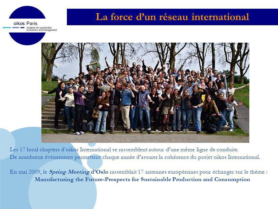 Company LOGO La force dun réseau international Les 17 local chapters doikos International se rassemblent autour dune même ligne de conduite. De nombre