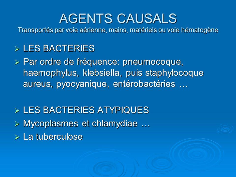 LES VIRUS LES VIRUS Les PNP virales sont les plus fréquentes Les PNP virales sont les plus fréquentes Avec LA GRIPPE +++ Avec LA GRIPPE +++ CMV, coxackies, rougeole… CMV, coxackies, rougeole…