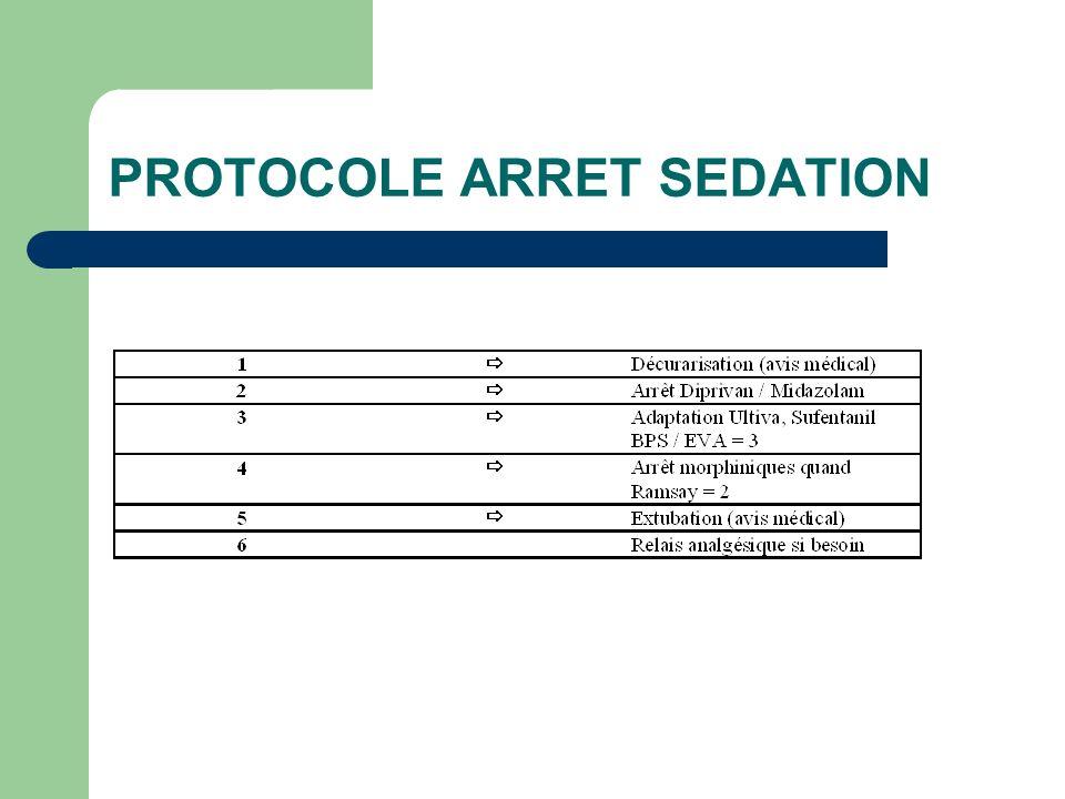 PROTOCOLE ARRET SEDATION