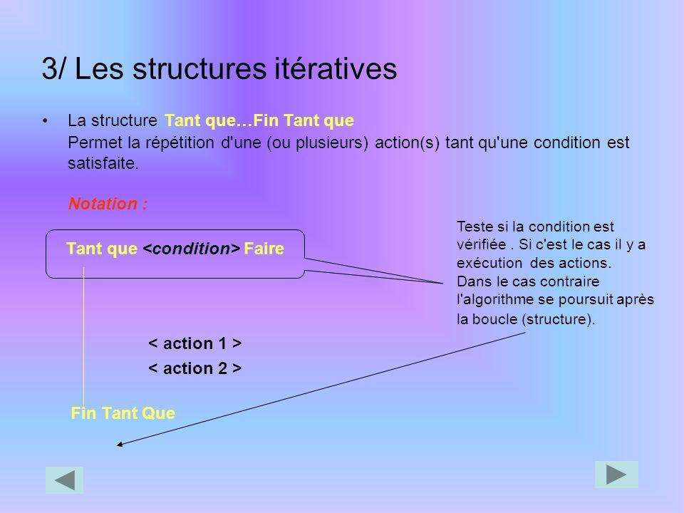 La structure de choix Notation Autre notation possible Selon Suivant Faire) Cas : : >action1> Cas : : >action1> Cas sinon : Sinon : Finsuivant