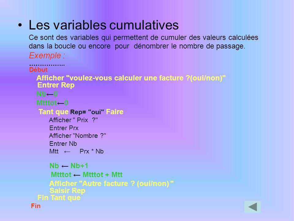 Exemple : Algo : prixdupain Variables --------------------Rep : chaîne de caractères Constantes ------------------- Début Afficher