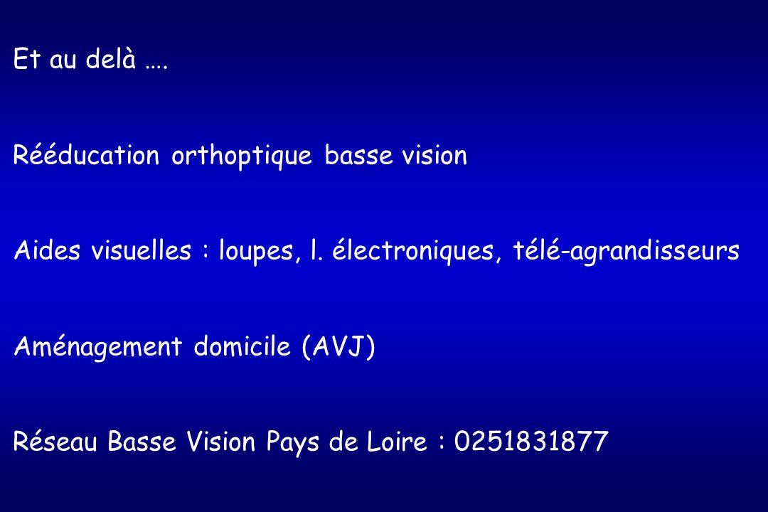 Et au delà ….Rééducation orthoptique basse vision Aides visuelles : loupes, l.