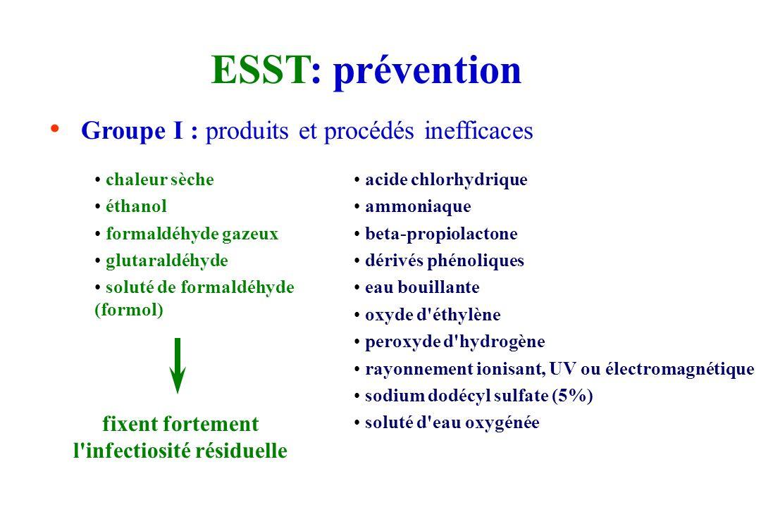 ESST: prévention Nouvelle circulaire DGS-5C-DHOS-F2-2001-138 (14/03/2001) remplace circulaire DGS/DH n°100 ; 11/12/1995 Préconise l'usage unique +++ T
