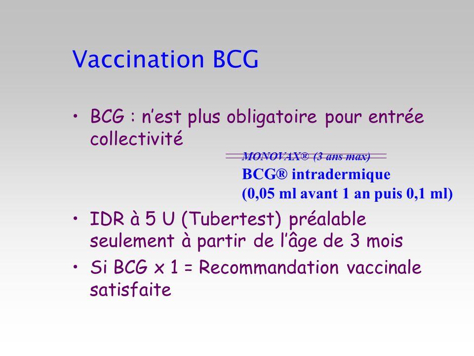 Période de transition du vaccin 7 valent vers le 13 valent Enfant < 2 ans sans facteur de risque 2 mois4 mois12-15 mois16-24 mois PREVENAR PREVENAR 13 PREVENAR PREVENAR 13 PREVENARPREVENAR 13