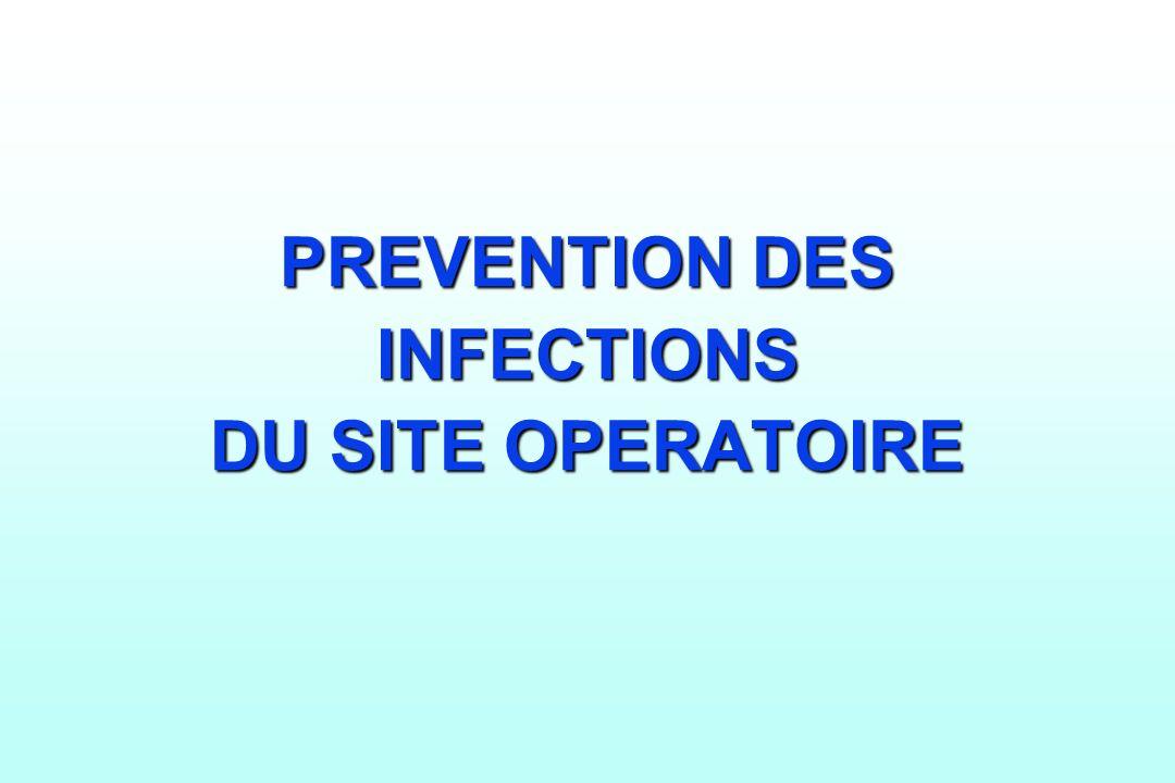PREVENTION DES INFECTIONS DU SITE OPERATOIRE