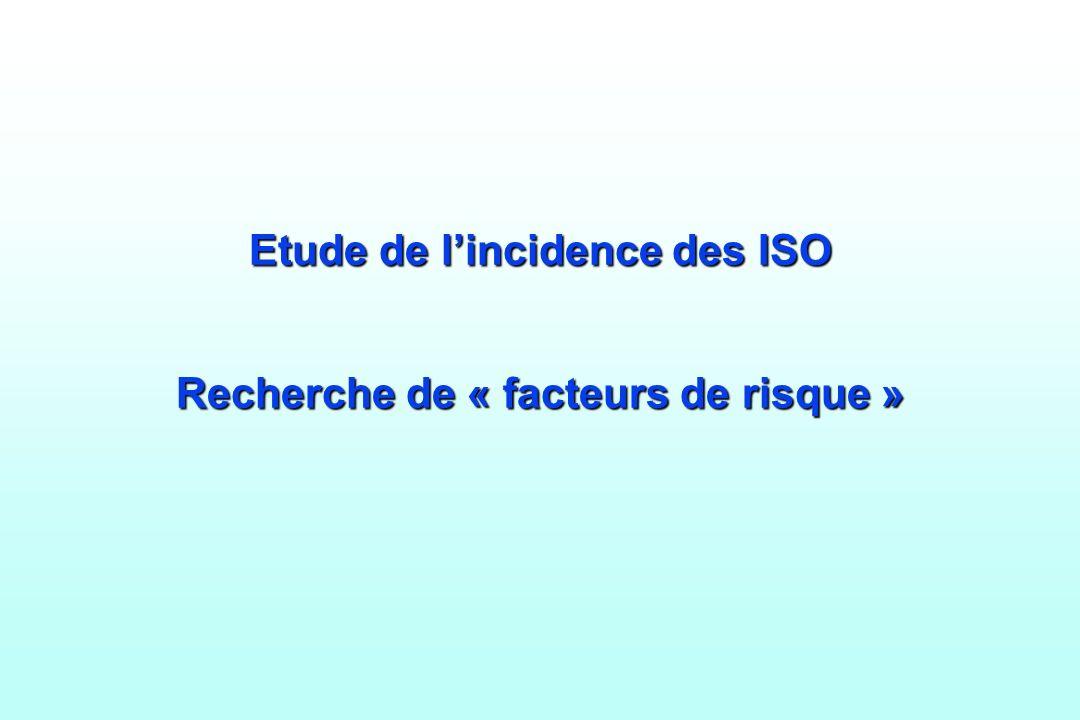 Etude de lincidence des ISO Recherche de « facteurs de risque »