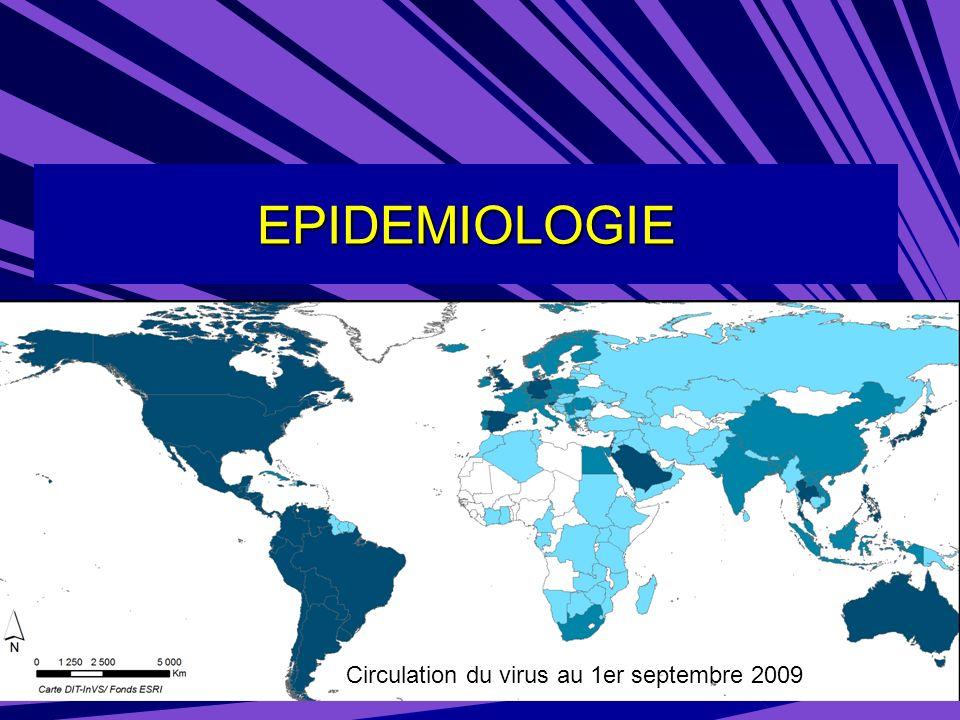 Données INVS au 23/12/09 Surveillance virologique : –Semaine 50 : 4587 prélèvements analysés (en baisse +++) (bien que les indications de prélèvements aient été restreintes) dont 1 531 positifs (33%) (en baisse) dont 1 495 H1N1v (99% des virus typés)