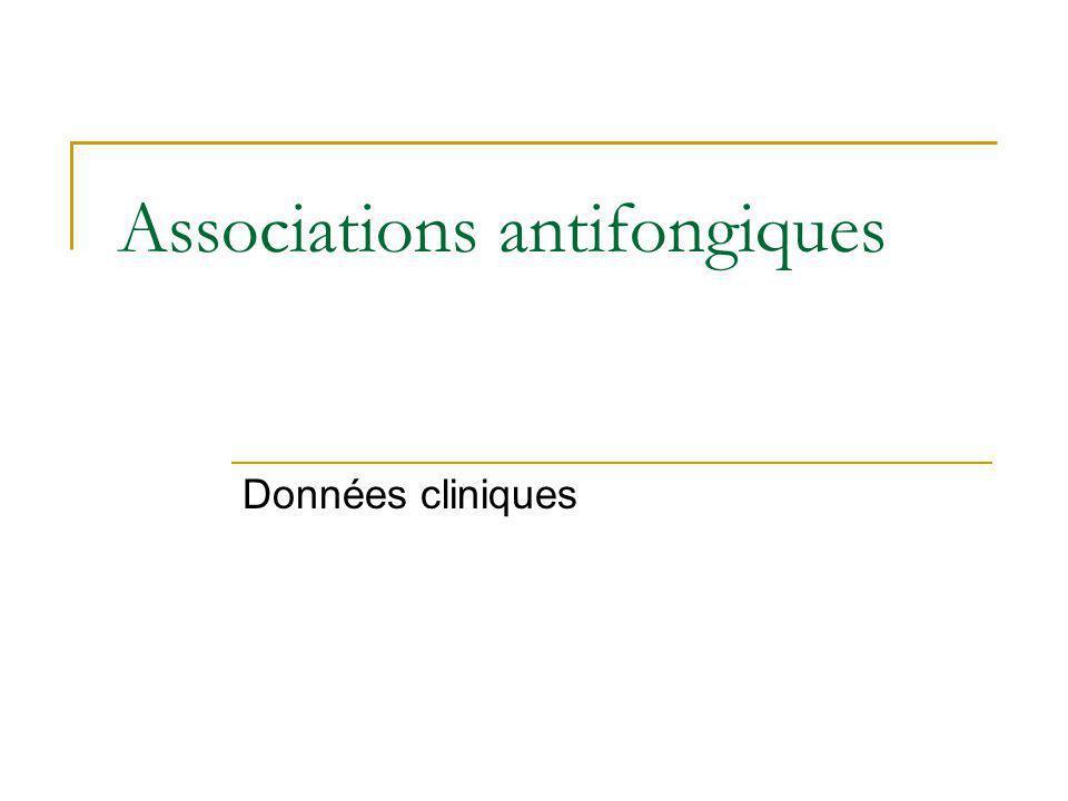 Associations antifongiques Données cliniques