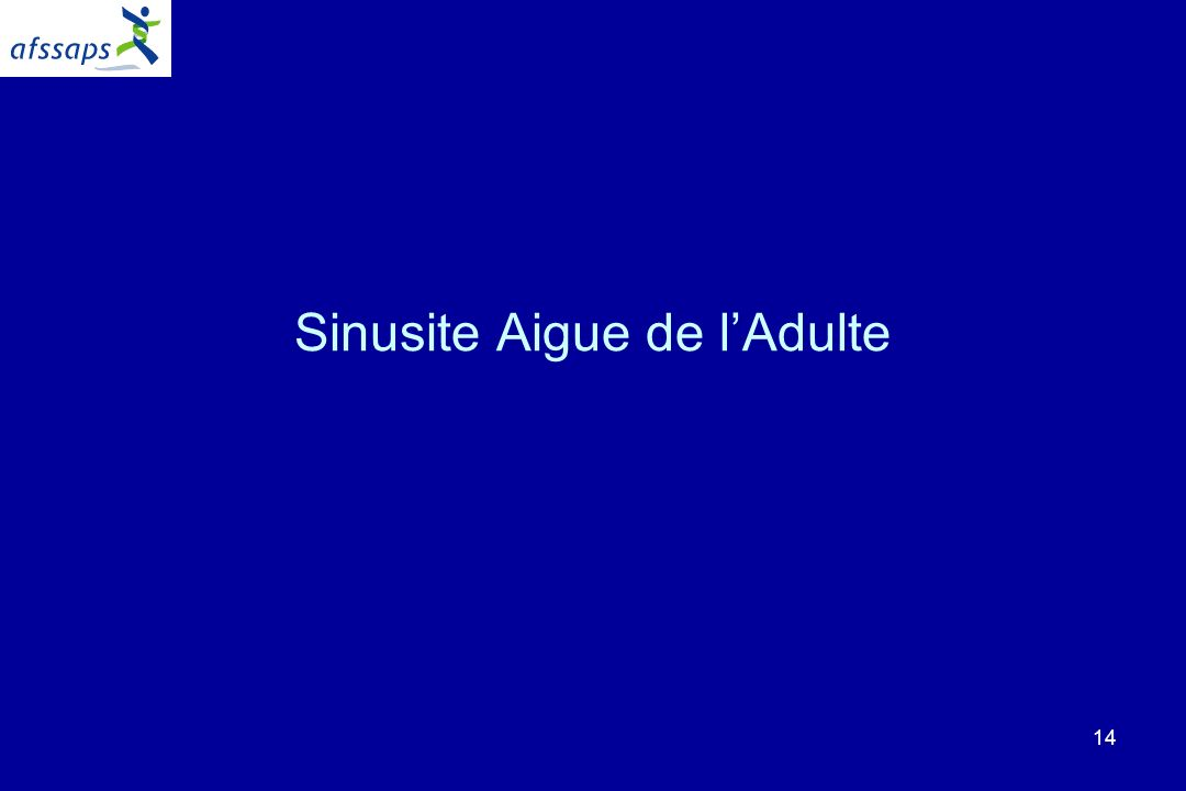 14 Sinusite Aigue de lAdulte