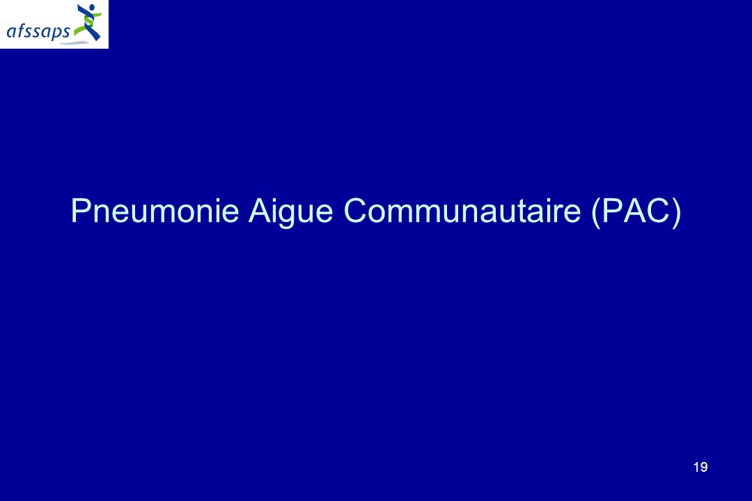 19 Pneumonie Aigue Communautaire (PAC)