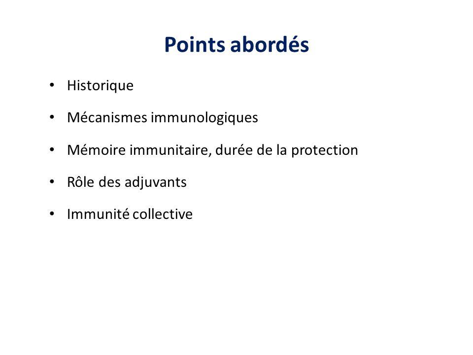 Observation empirique : une infection guérie protège de la maladie Découverte de limmunologie AC, CTL..