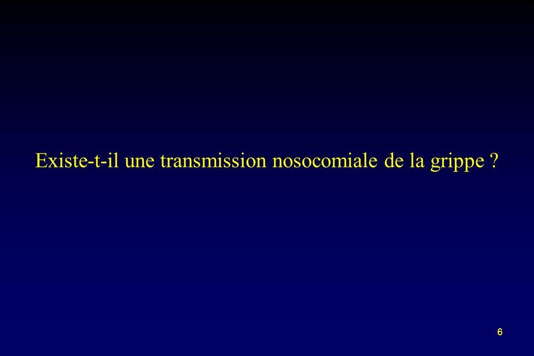 6 Existe-t-il une transmission nosocomiale de la grippe ?