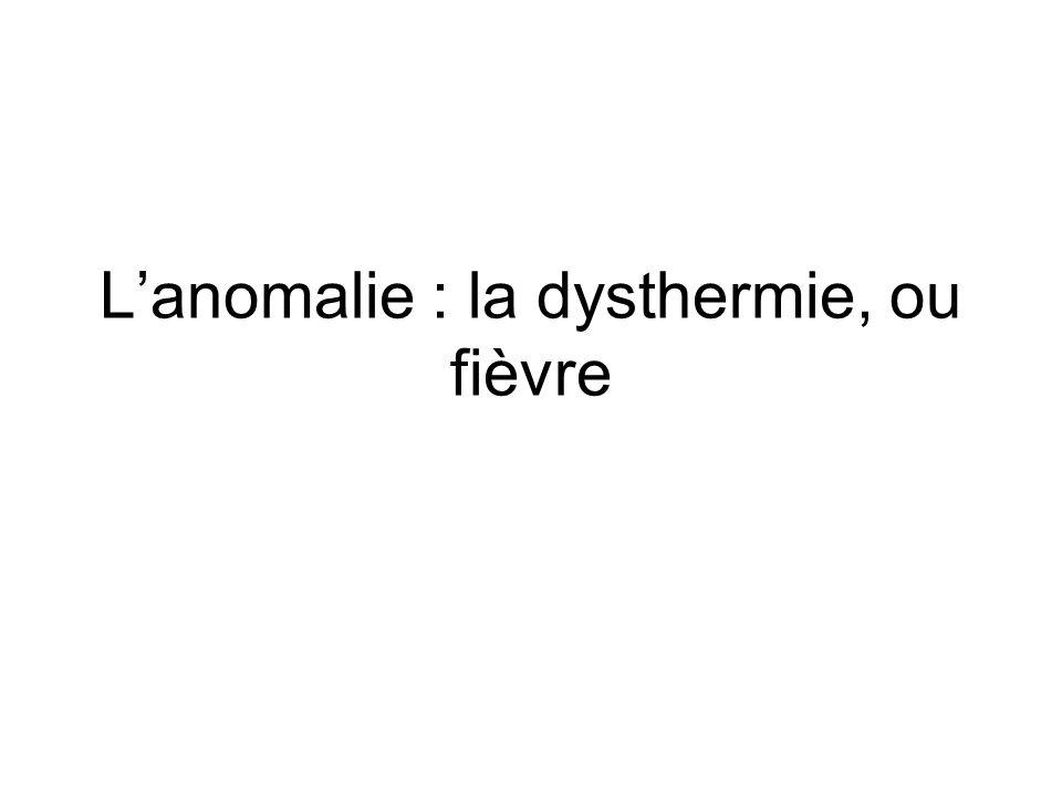 Lanomalie : la dysthermie, ou fièvre