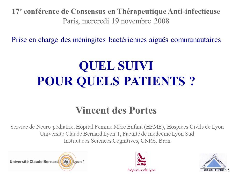 1 Service de Neuro-pédiatrie, Hôpital Femme Mère Enfant (HFME), Hospices Civils de Lyon Université Claude Bernard Lyon 1, Faculté de médecine Lyon Sud