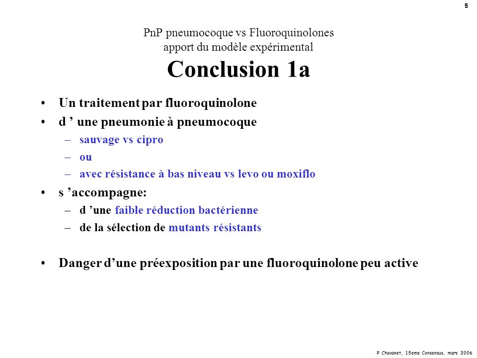 P Chavanet, 15eme Consensus, mars 2006 16 CMI, CPM pneumocoque « sauvage » 0,01 0,1 0,06 0,04 0,02 1 0,6 0,4 0,2 10 6 4 2 20 30 50 sauvage efflux parCgyrA sauvage efflux parCgyrA sauvage efflux parCgyrA sauvage efflux parCgyrA sauvage efflux parCgyrA ciprolevogatimoxigemi mg/l Cmax: --- CMI CPM