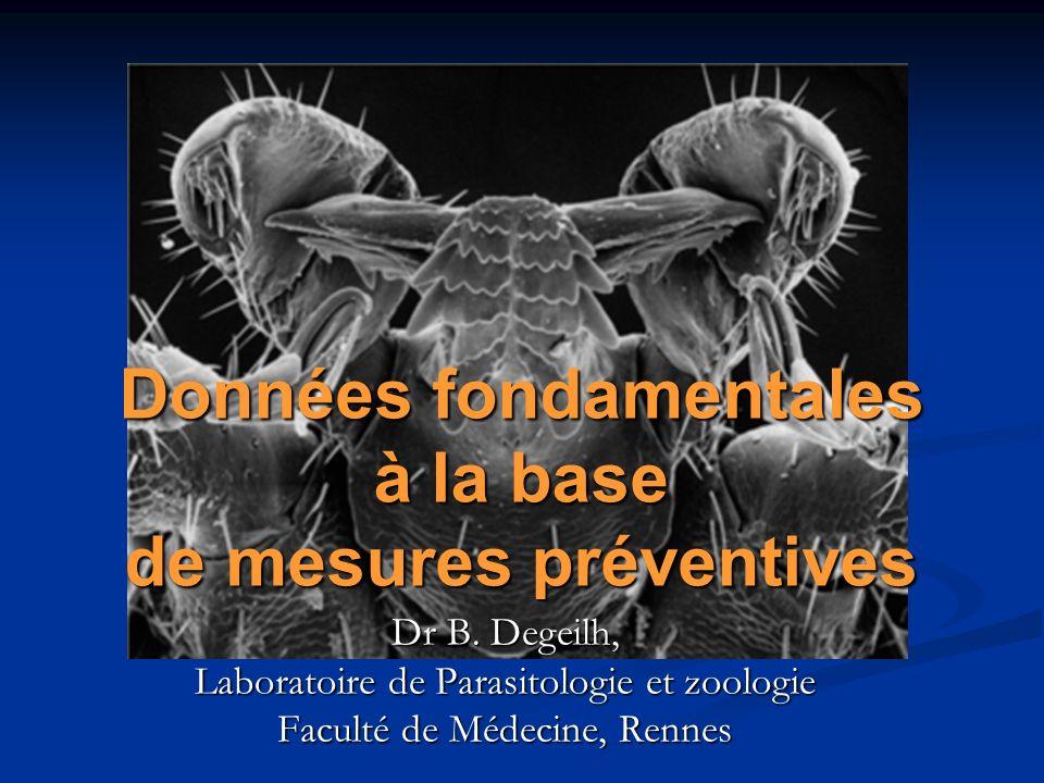 16 e Conférence de Consensus en Thérapeutique Anti-infectieuse « Borréliose de Lyme » Données fondamentales à la base de mesures préventives - B.