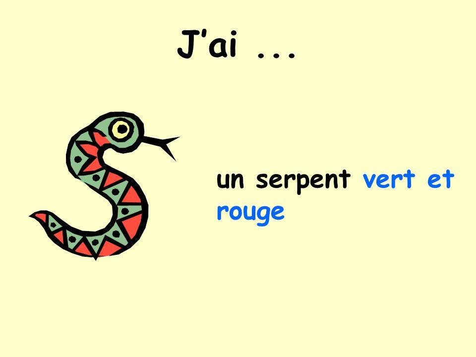 Jai... un serpent vert