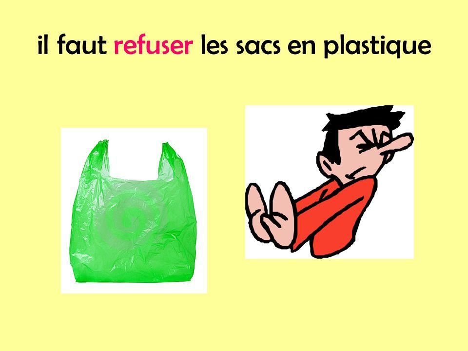 il faut refuser les sacs en plastique