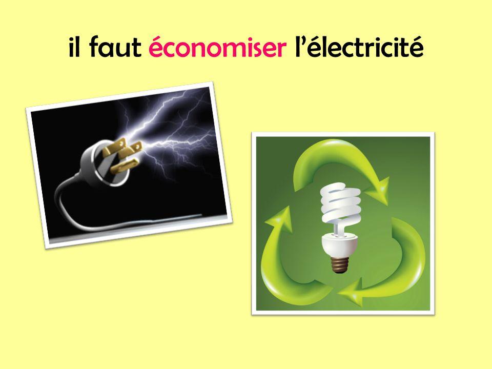 il faut économiser lélectricité