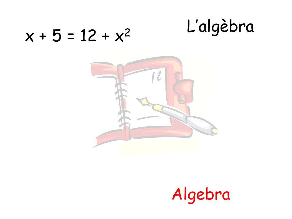 Lalgèbra Algebra x + 5 = 12 + x 2