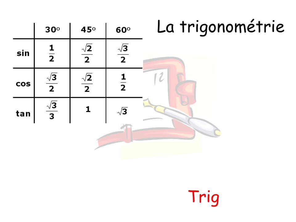 La trigonométrie Trig