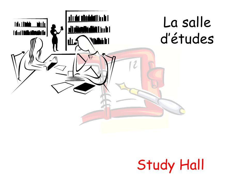 La salle détudes Study Hall