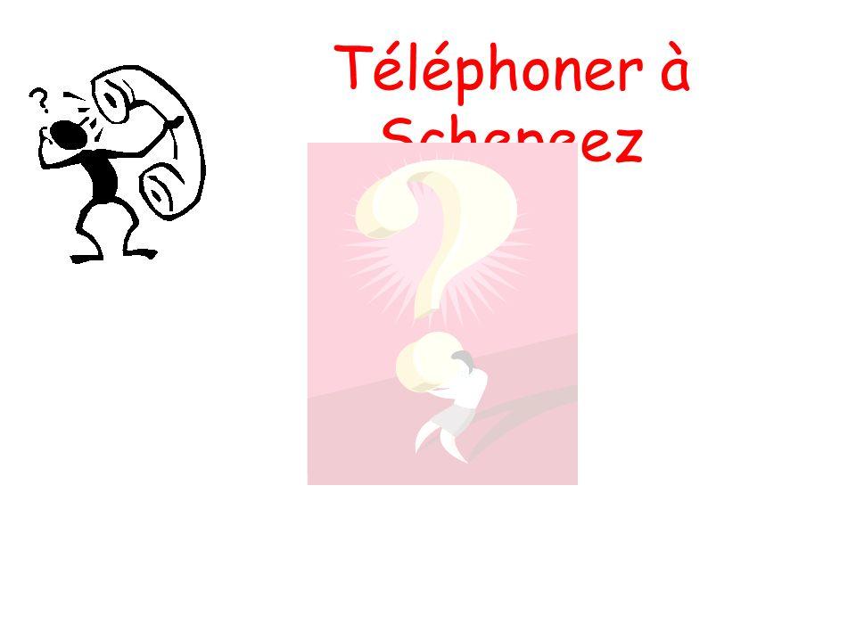 Téléphoner à Schepeez