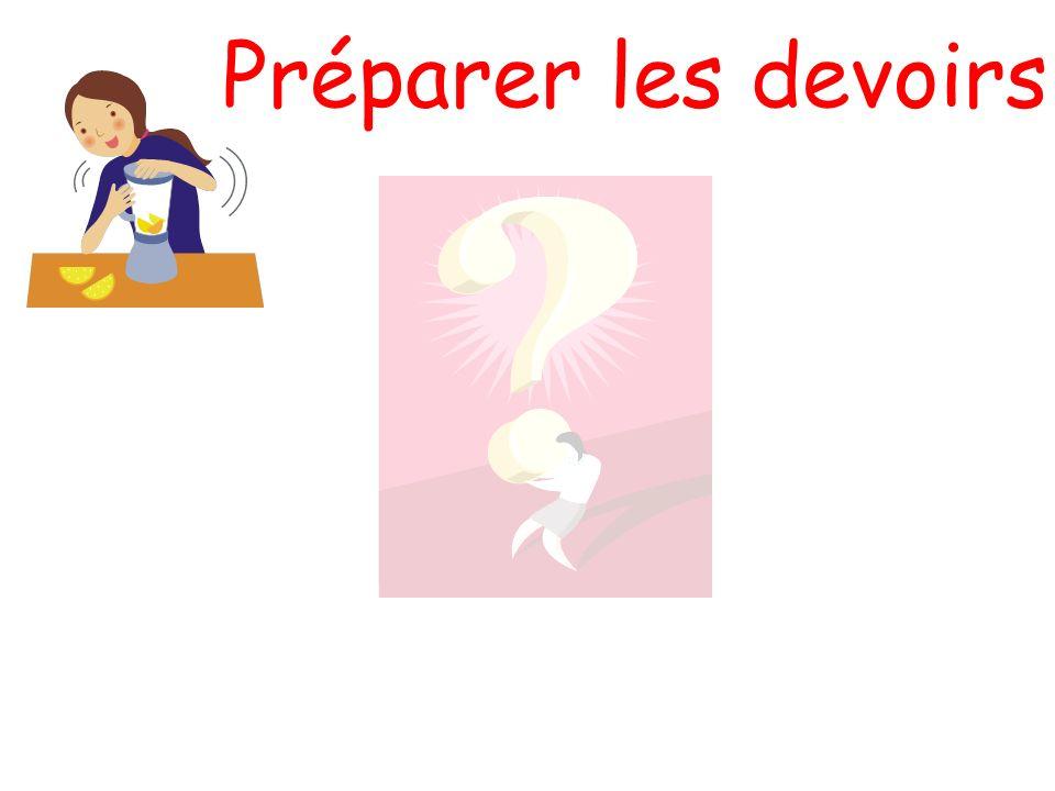 Préparer les devoirs