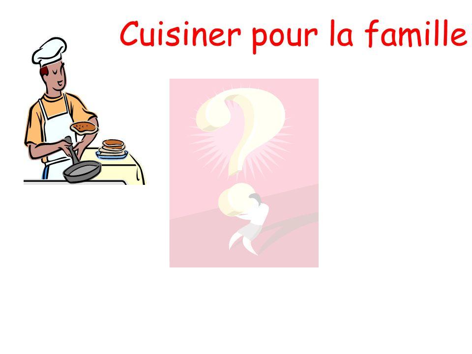 Cuisiner pour la famille