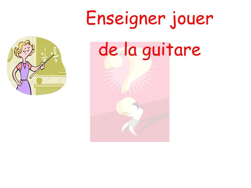 Enseigner jouer de la guitare