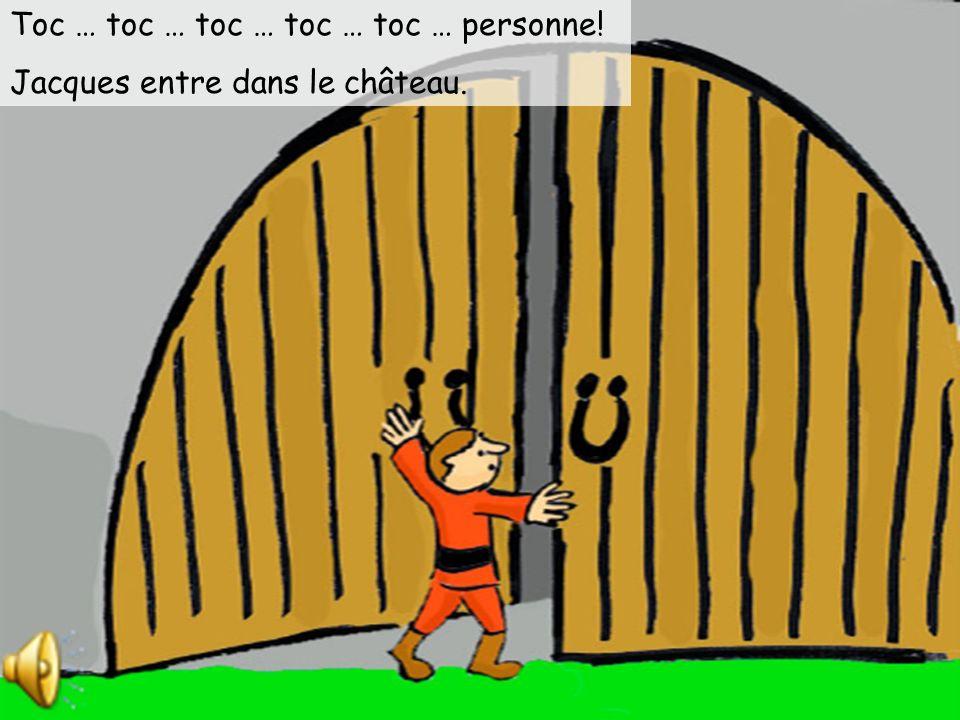 Jacques grimpe la tige de haricot magique. Il grimpe … il grimpe … il grimpe … jusquau ciel. Jacques voit un château géant.