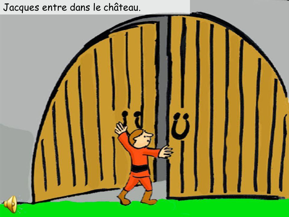 Jacques grimpe la tige de haricot magique. Il grimpe … il grimpe … il grimpe … jusquau ciel.