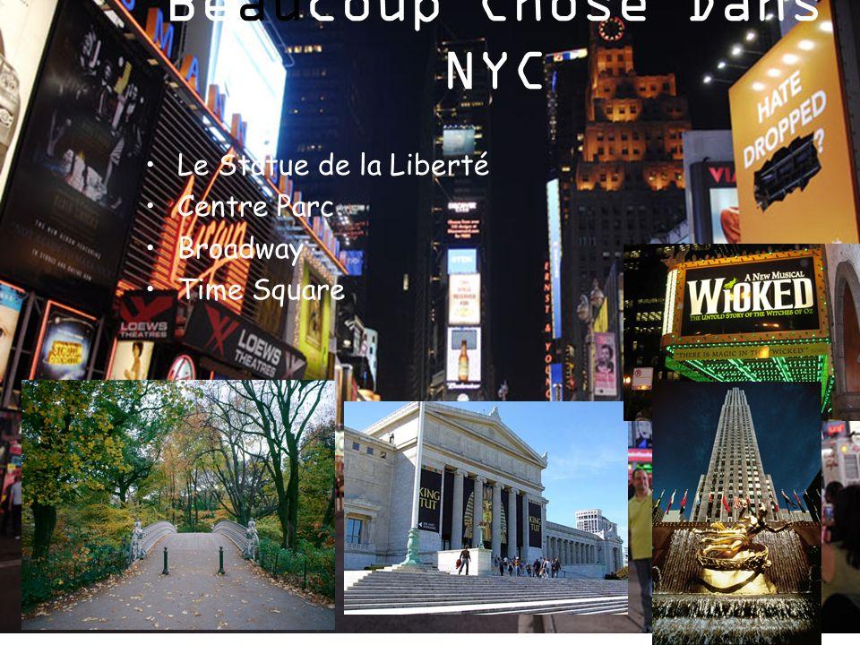 Beaucoup Chose Dans NYC Le Statue de la Liberté Centre Parc Broadway Time Square