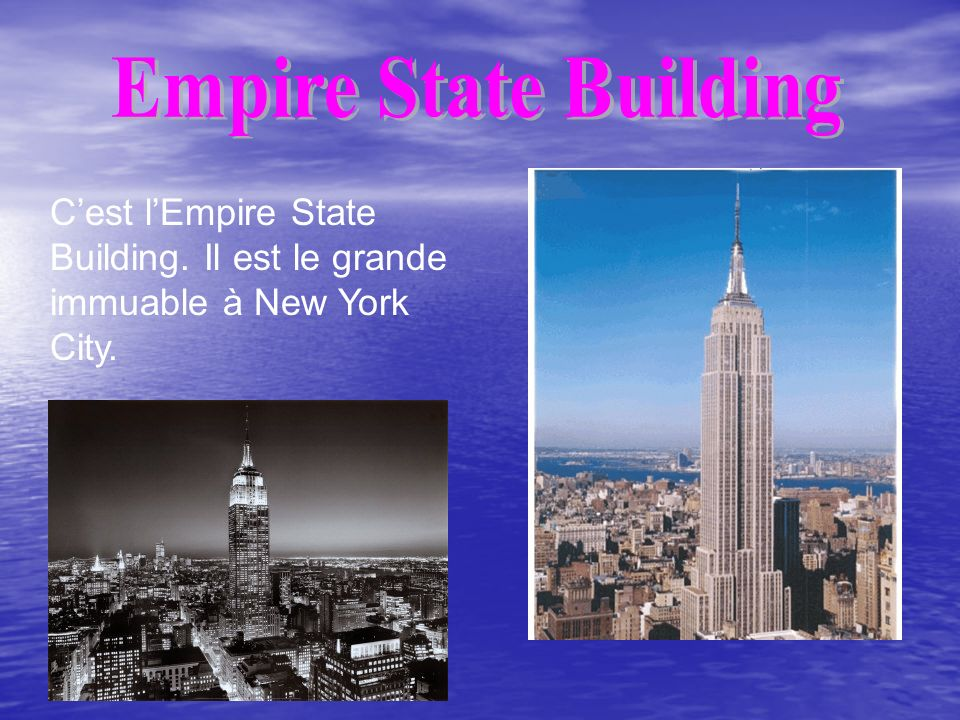 Cest lEmpire State Building. Il est le grande immuable à New York City.