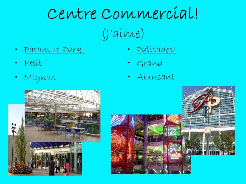 Centre Commercial! (Jaime) Paramus Park! Petit Mignon Palisades! Grand Amusant