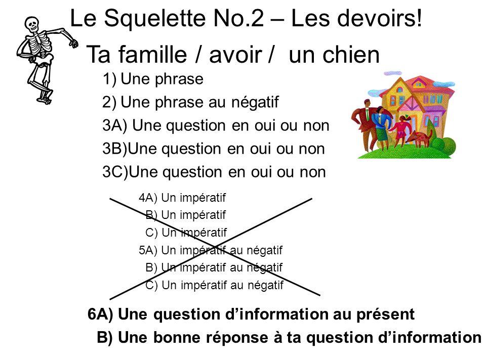 Le Squelette No.2 – Les devoirs.