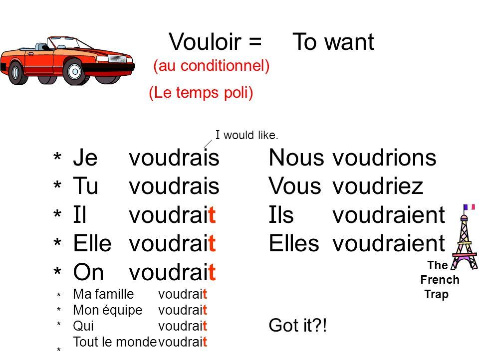 3) Nous / manger / beaucoup de bisquits / à la danse au présent 4) Vous / préférer / le vélo rouge ou noir.