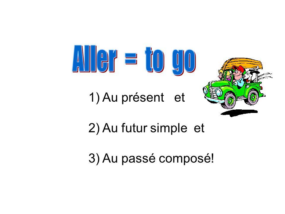 1) Au présent et 2) Au futur simple et 3) Au passé composé!