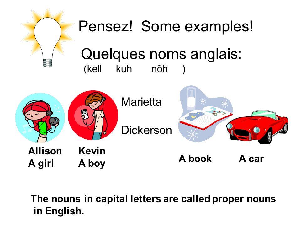 Pensez.Some examples.