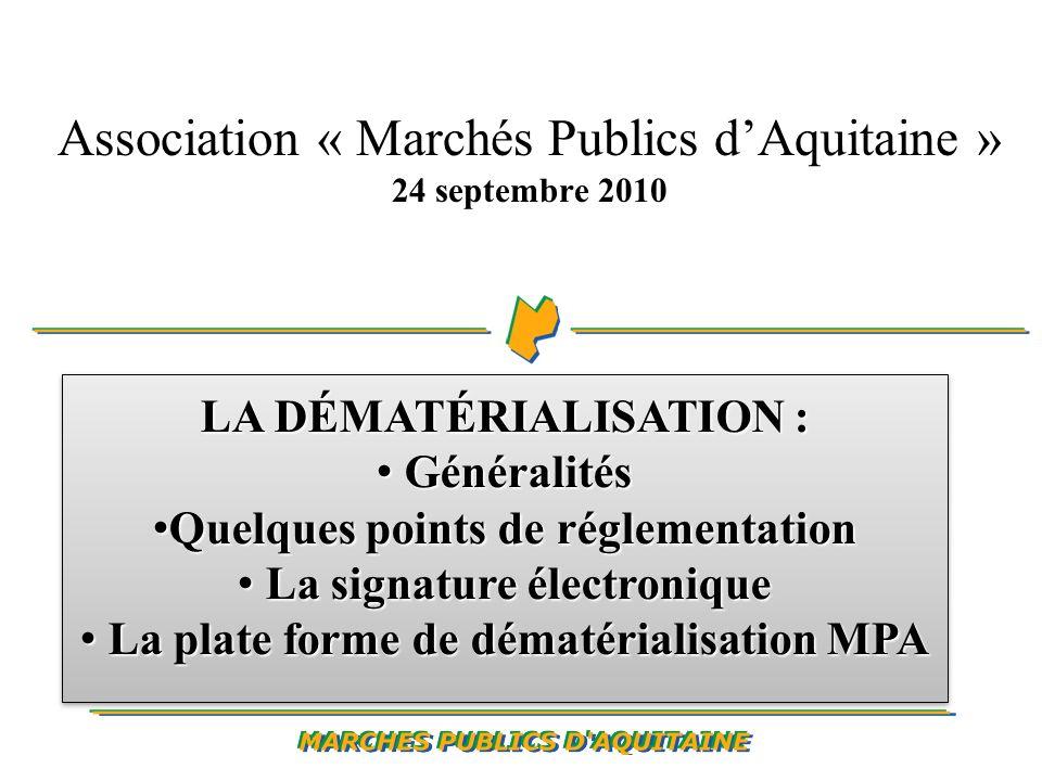 Les obligations du candidat : appliquer le même mode de transmission à lensemble des documents adressés au pouvoir adjudicateur.