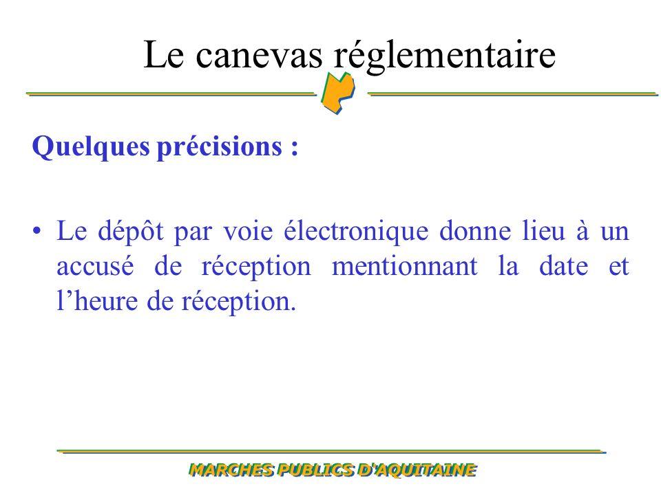 Quelques précisions : Le dépôt par voie électronique donne lieu à un accusé de réception mentionnant la date et lheure de réception.