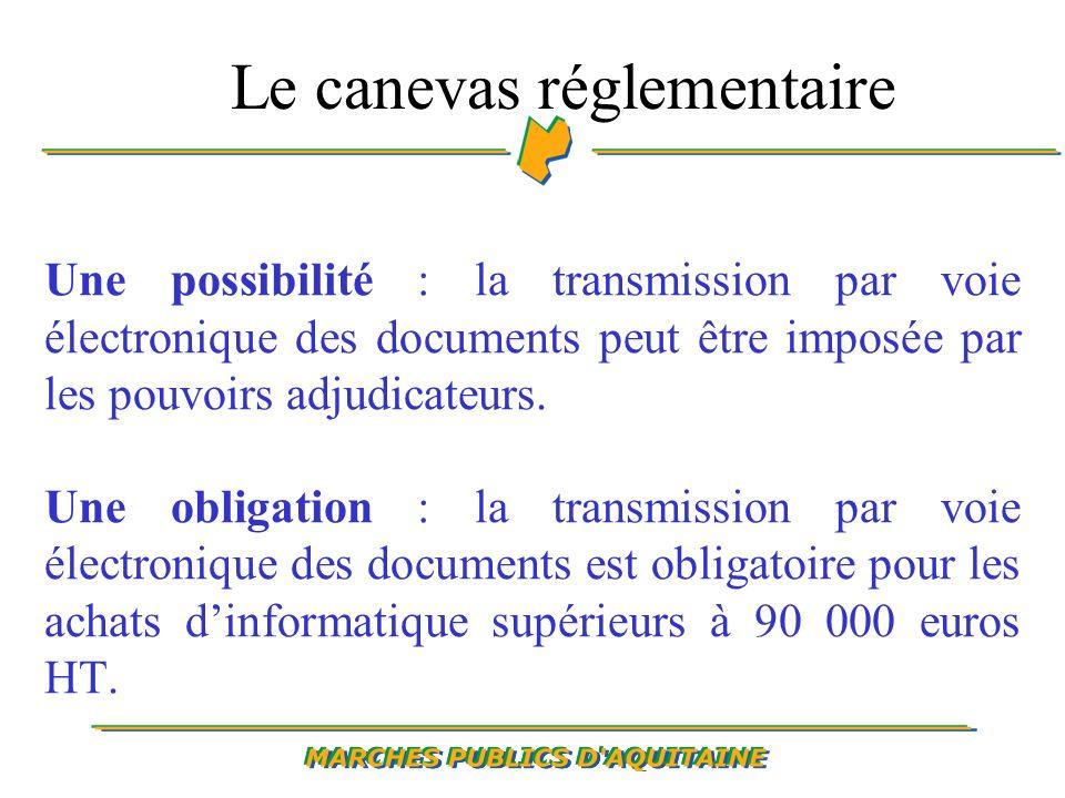Une possibilité : la transmission par voie électronique des documents peut être imposée par les pouvoirs adjudicateurs.