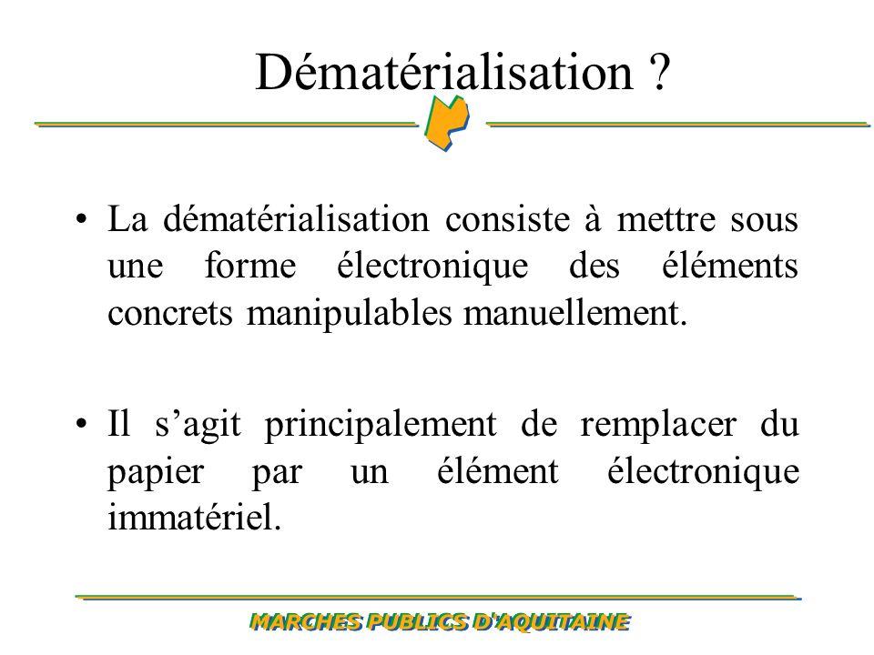 Dématérialisation .