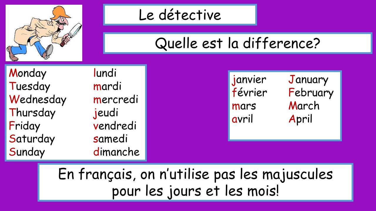 Le détective Quelle est la difference.